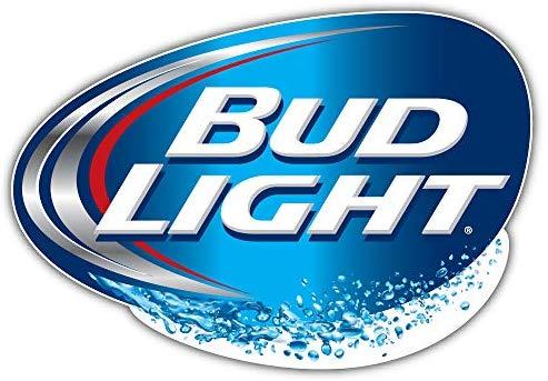qualityprint Bud Light Logo Decor Bumper Vinyl Sticker 14'' X 9''.