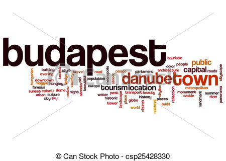 Drawings of Budapest word cloud concept csp25428330.