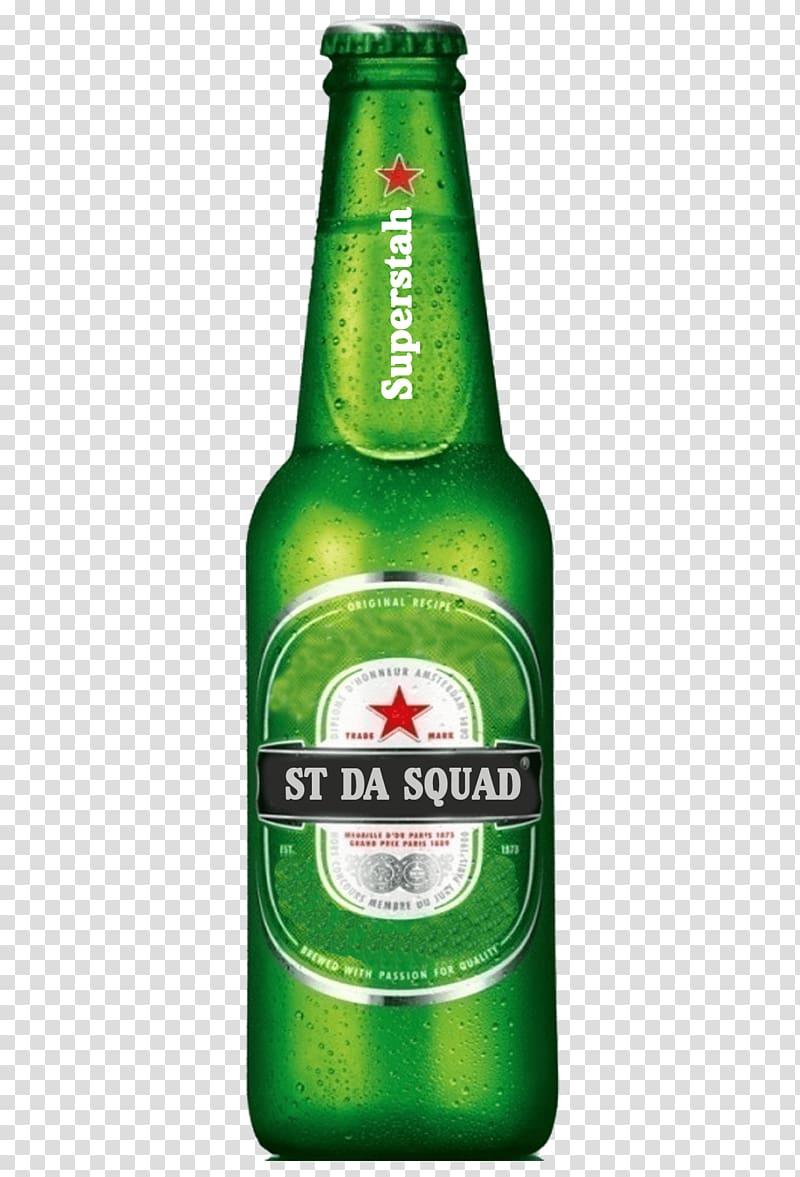 Superstah liquor bottle, Beer Budweiser Heineken.