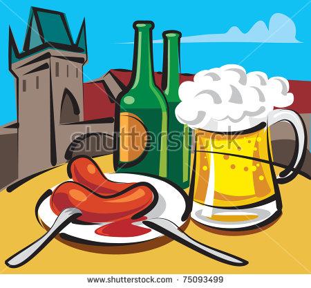 Prague Beer Stock Photos, Royalty.