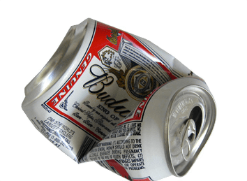 Download Free png budweiser crushed can.