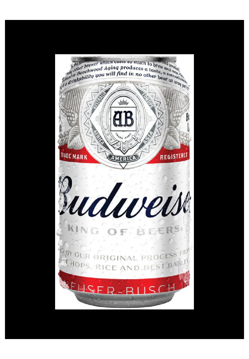 Budweiser Beer Can 355ml.