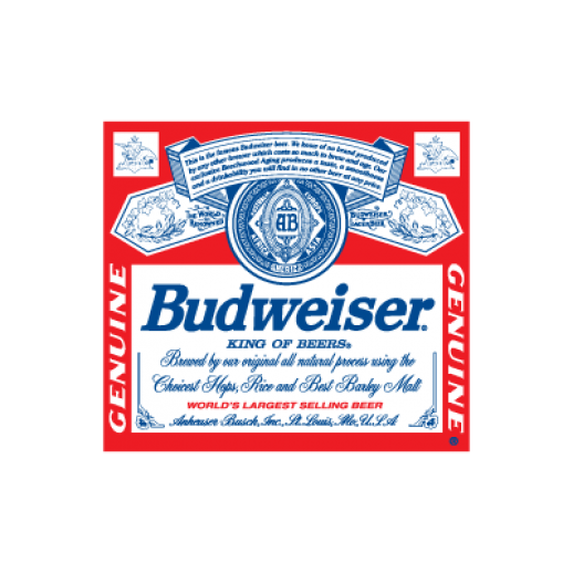 Budweiser Beer logo Vector.