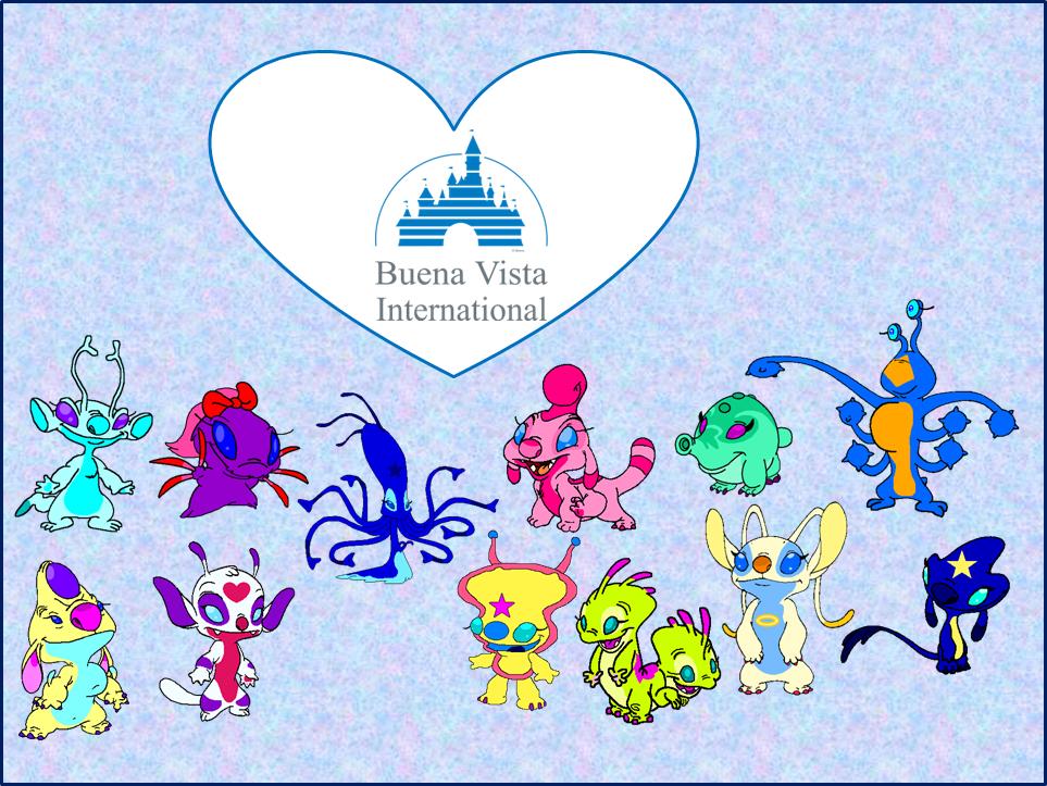 Concept Art Blog: Katie 844 & Friends with the Buena Vista Logo.