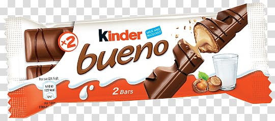 Kinder Bueno chocolate bar pack, Kinder Bueno transparent.