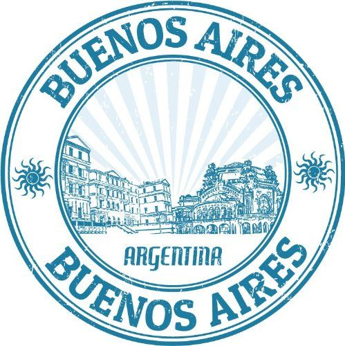 Buenos Aires Argentina Travel Rubber Stamp.