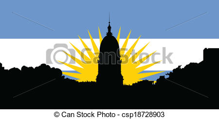Vector Clipart of Buenos Aires Silhouette.