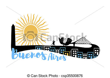 Stock Illustrations of Buenos Aires skyline csp35500876.