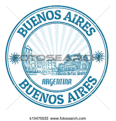 Clipart of Buenos Aires stamp k15475533.