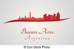 Vectors of buenos aires skyline.