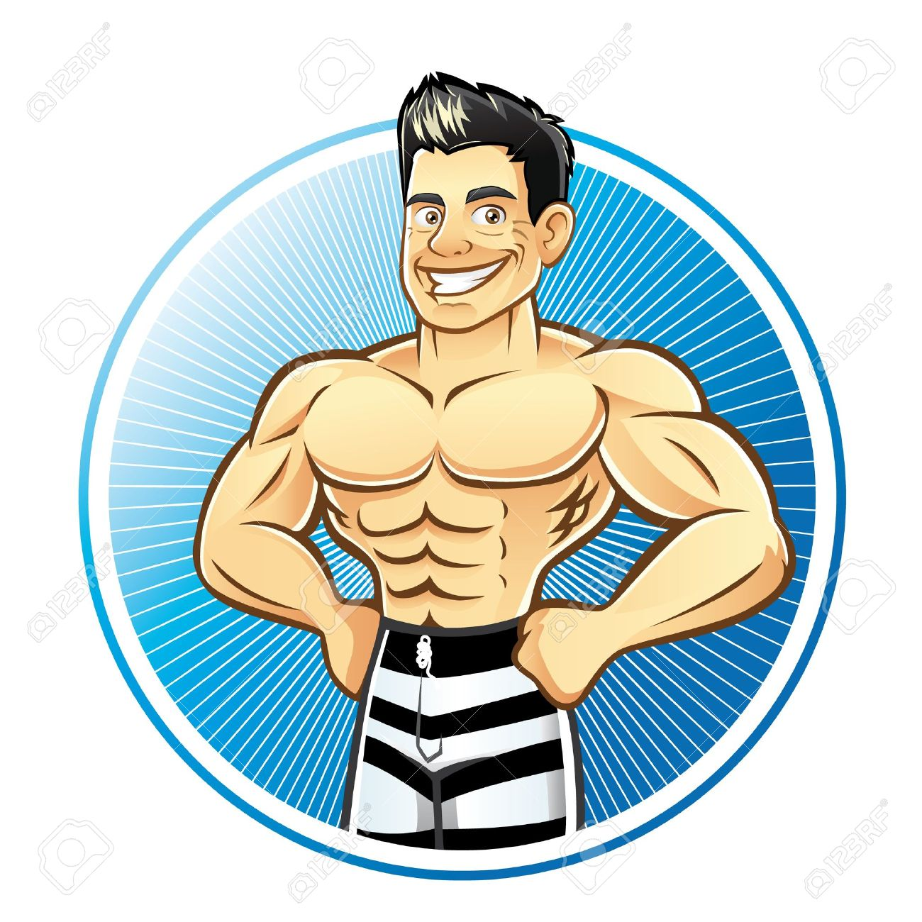 Muscle Man Cartoons Group with 20+ items.