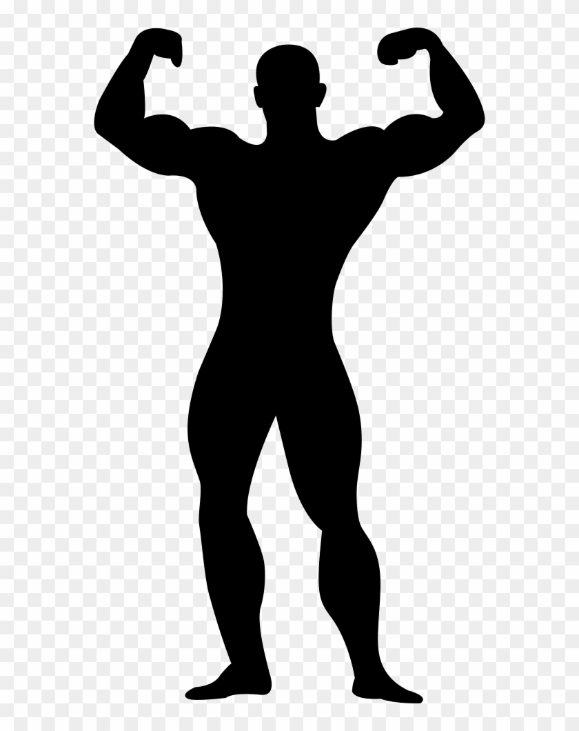 Muscle Man Silhouette Png.