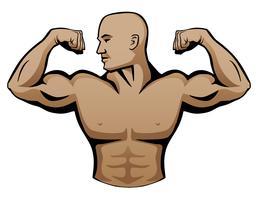 Muscle Man Free Vector Art.
