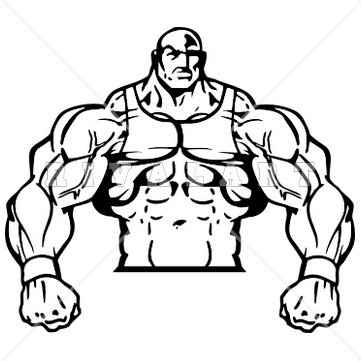 Muscle Man Clipart.
