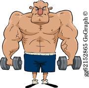 Muscle Man Clip Art.