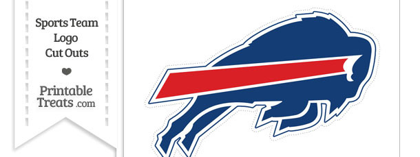 Large Buffalo Bills Logo Cut Out — Printable Treats.com.