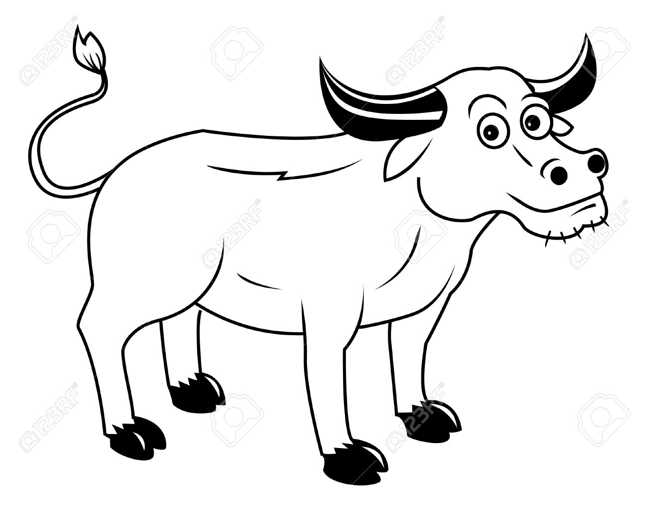 Buffalo clipart black and white 5 » Clipart Station.