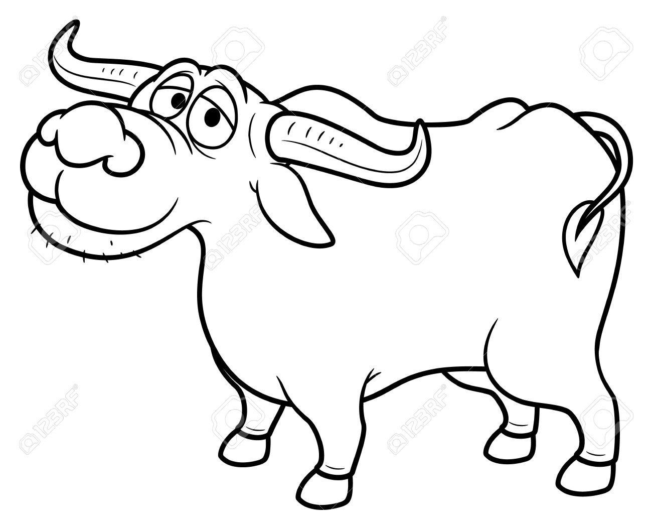 Buffalo black and white clipart 6 » Clipart Portal.