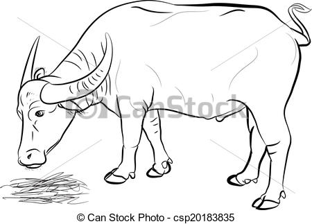 Buffalo clipart black and white 7 » Clipart Station.