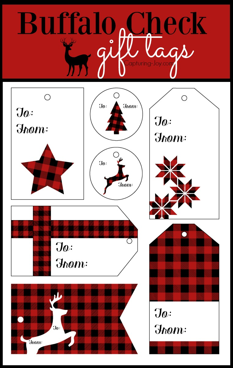 Buffalo Check Plaid Free Printables.