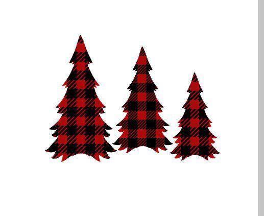 Buffalo Plaid Christmas Trees SVG.