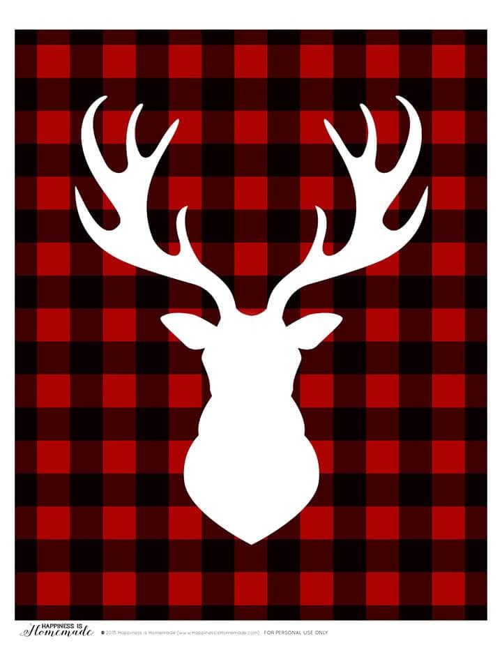 Buffalo Check Plaid Printable Gift Tags.