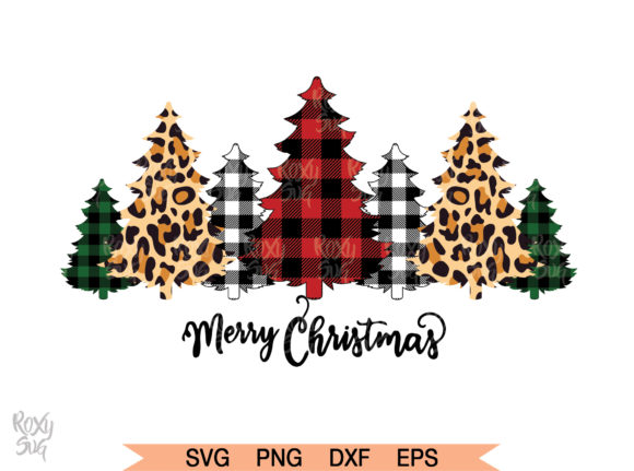 Buffalo Plaid Trees (Graphic) by roxysvg26 · Creative Fabrica.