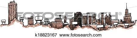 Clip Art of Buffalo City Skyline k18823167.
