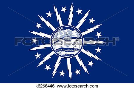 Stock Illustration of Buffalo City flag k6256446.