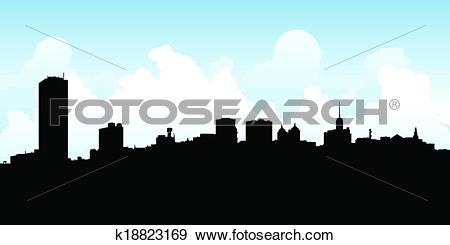 Clip Art of Buffalo City Skyline k18823169.