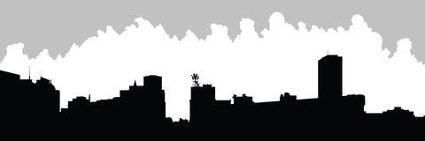 Buffalo City Skyline Stock Illustrations.