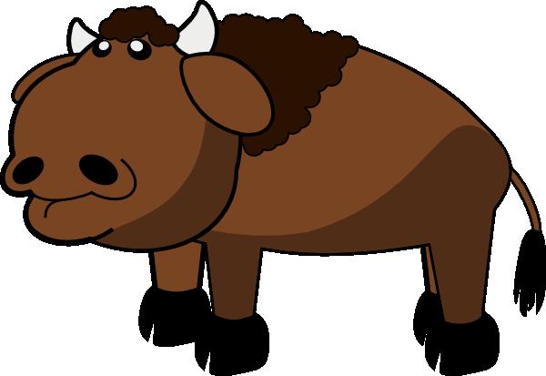 Cartoon Buffalo Clipart.
