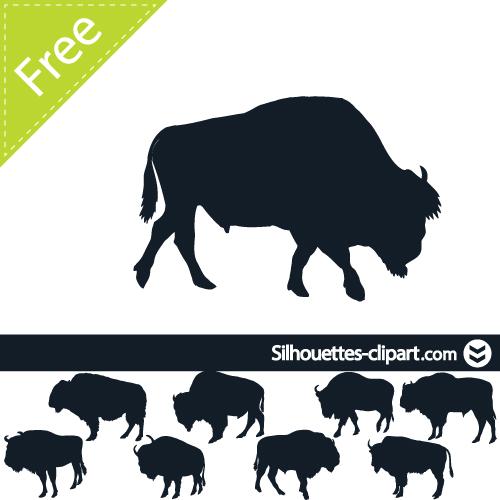 bison outline clip art.