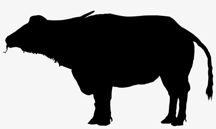 Water Buffalo Clipart Silhouette.