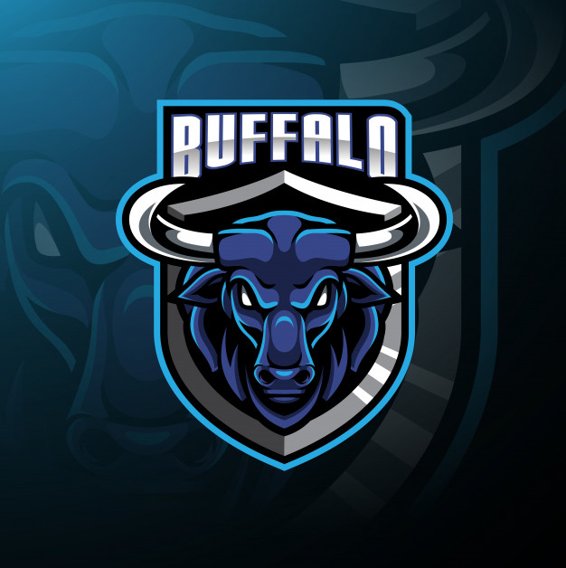 Buffalo head mascot logo Vector.