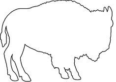 outline of a buffalo.
