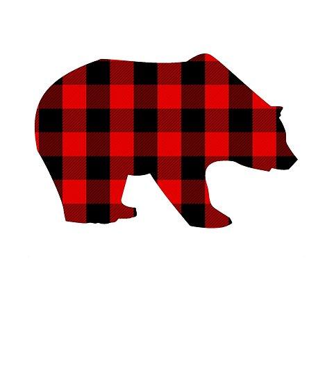 \'Red Buffalo Plaid Bear \' Poster by GrayFoxShirts.