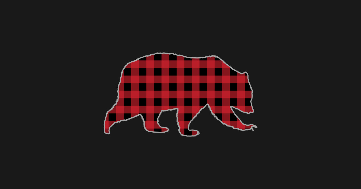 Bear Buffalo Plaid Family Christmas Present by rjcatch.
