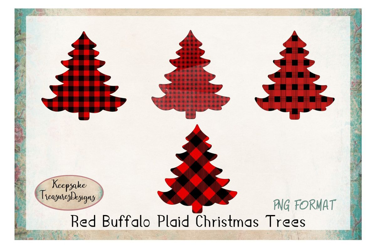 Red Buffalo Plaid Christmas Tress.