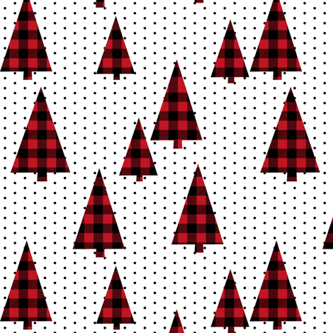 buffalo plaid christmas tree red plaid christmas plaid tree fir tree.