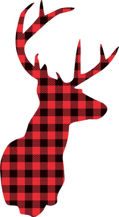 Deer Christmas Lumberjack Buffalo.