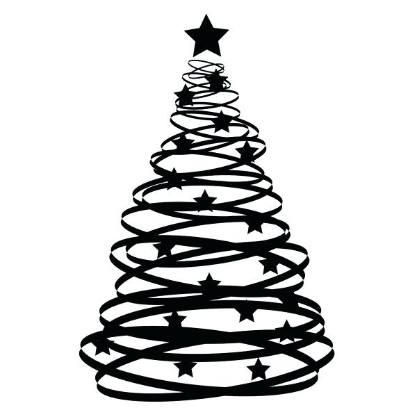 black and white christmas tree.