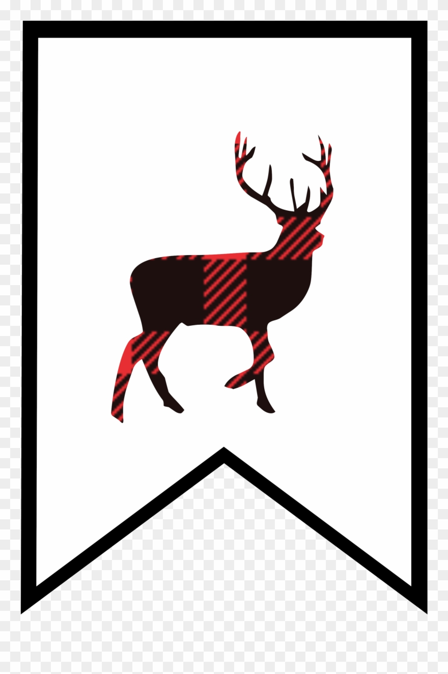 Plaid Clipart Deer.
