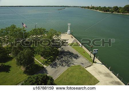Stock Photograph of Buffalo, NY, New York, Lake Erie, Buffalo.