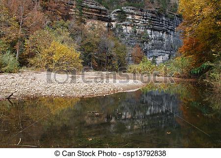 Stock Photos of Buffalo River in Arkansas.