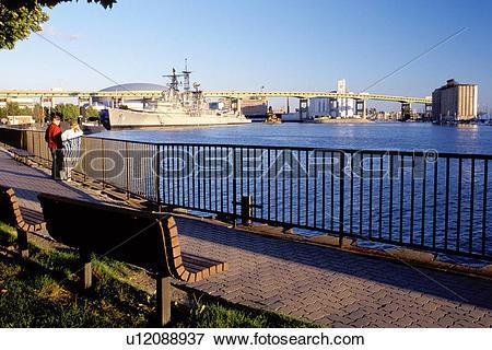 Picture of Buffalo, New York, NY, Esplanade Park along the Buffalo.