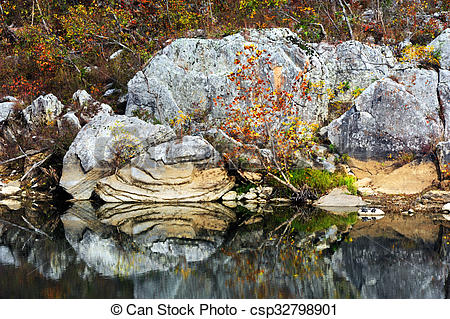 Stock Photography of Buffalo River Rock.