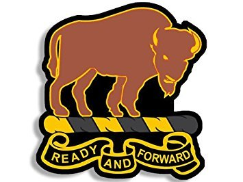 Amazon.com: MAGNET Buffalo Soldiers READY AND FORWARD Logo.