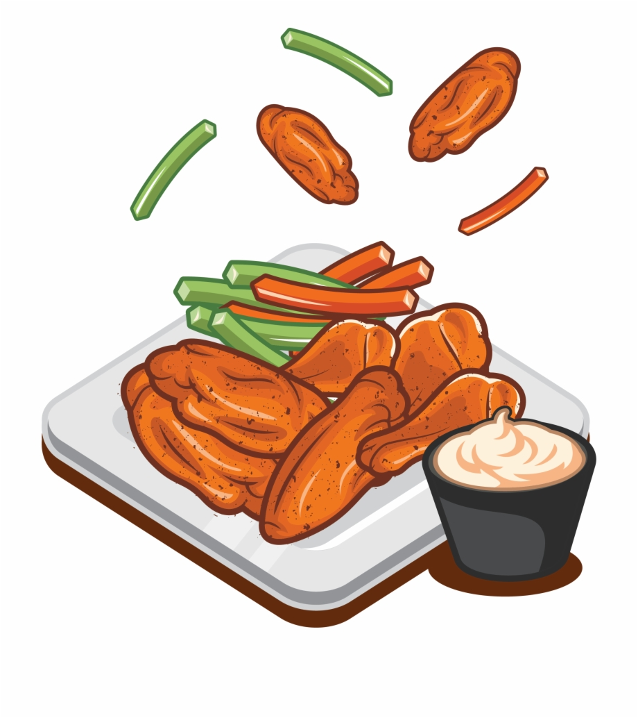 Freeuse Download Buffalo Wing Sausage Fast Food Wings.