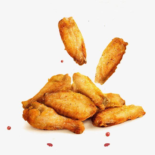 Golden Fried Chicken Wings PNG, Clipart, Chicken, Chicken Clipart.